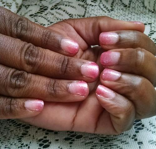 Pink Nail Design 1 Hands