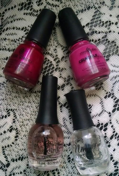 Pink Nail Design 2 Polish